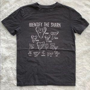 "Cat & Jack ""identify the shark T-shirt"